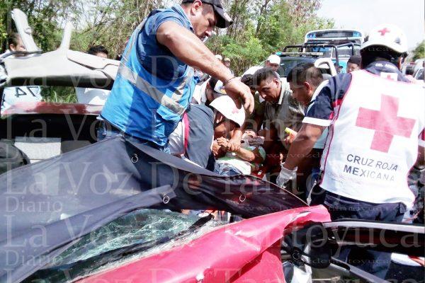 ?Carreterazo? deja 8 lesionados en Tantoyuca | Diario La Voz De Tantoyuca
