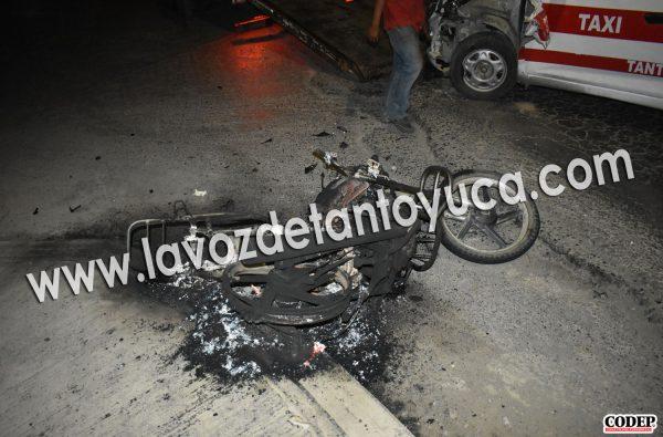 Tras el impacto la motocicleta se calcinó | LVDT