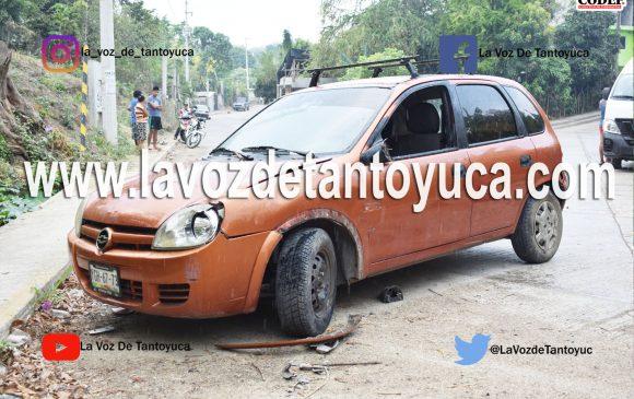 Madre e hija lesionadas en accidente vial, en Tantoyuca | LVDT