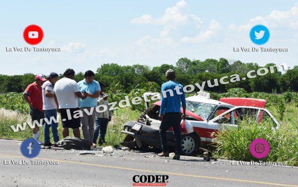 Tres lesionados deja aparatoso accidente de taxi, en Tantoyuca | LVDTER1