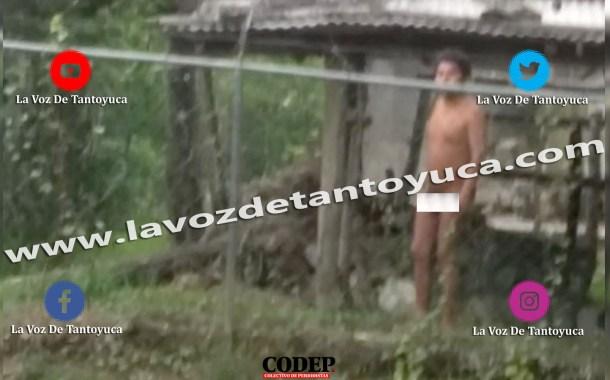 Causa movilización policiaca un hombre desnudo en el Jagüey Hidalgo