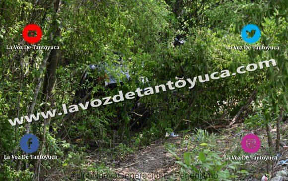 Resulta ileso tras aparatosa volcadura, en Tantoyuca   LVDT