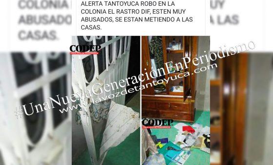 Denuncian en redes robo a casa habitación en Tantoyuca | LVDT