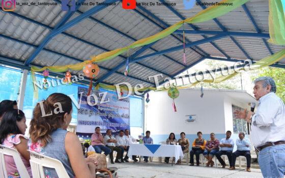 Entrega Amado Guzmán techado cívico en preescolar de la Colonia Morelos | LVDT