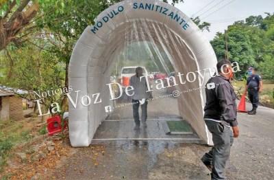 Instalan módulos sanitizantes en Chicontepec | LVDT