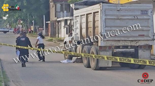 Abuelito muere aplastado por camión de volteo | LVDT