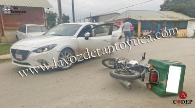 Motociclista provoca percance y resulta lesionado | LVDT