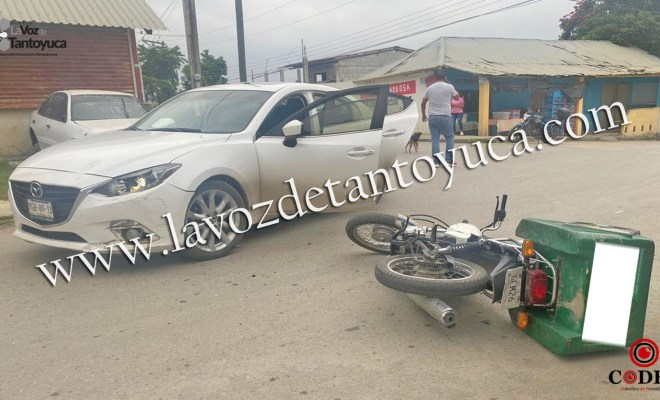 Motociclista provoca percance y resulta lesionado   LVDT