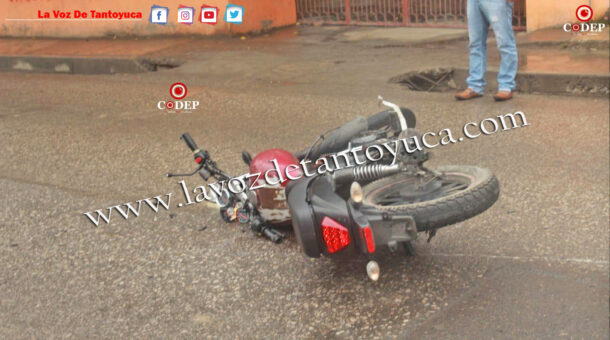 Motociclista resulta lesionado en accidente vial | LVDT