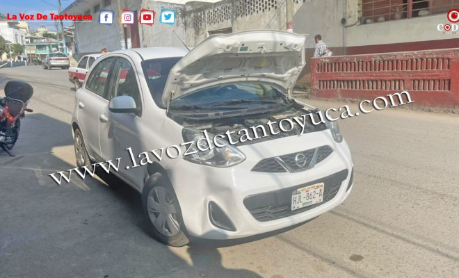 Deja solo daños materiales percance vial en Tantoyuca | LVDT