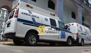En la ambulancia de Protección Civil Municipal trasladaron a la joven mujer sumamente grave al Estado de Hidalgo | LVDT