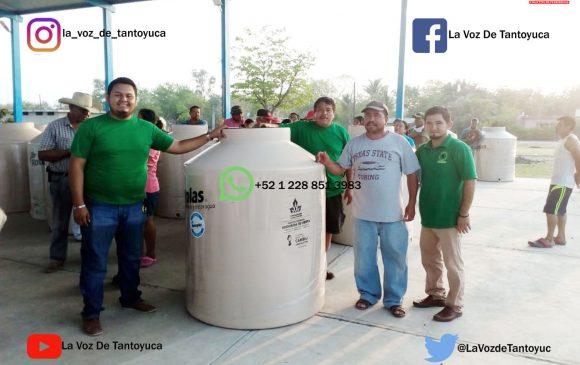Entrega la UCCEM tinacos Rotoplas a familias de escasos recursos económicos en San Luis Potosí | LVDT