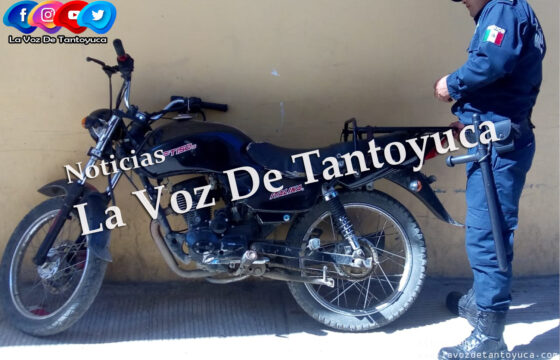 Aseguran motocicleta abandonada, en Tantoyuca | LVDT
