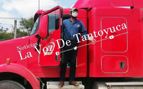 Trailero intenta atropellar a Agente Vial, en Tantoyuca