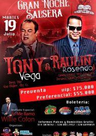 Flyers Tony Vega y Raulin Rosendo