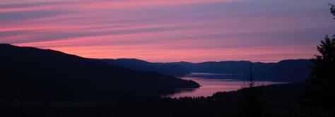 Solnedgang over Selbusjøen