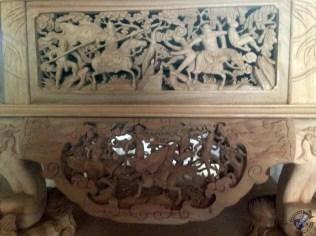 Trabajo de artesanía de madera casi terminado