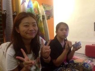 Joan y Ting Yu durante la cena