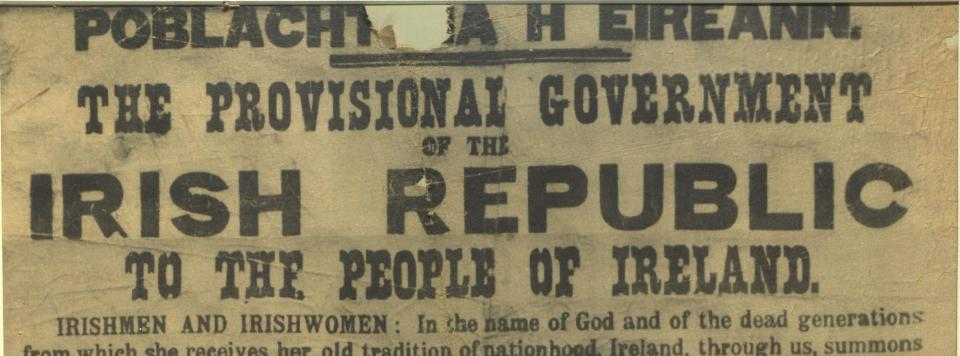 Ireland's Declaration of Independence at Providence Public Library