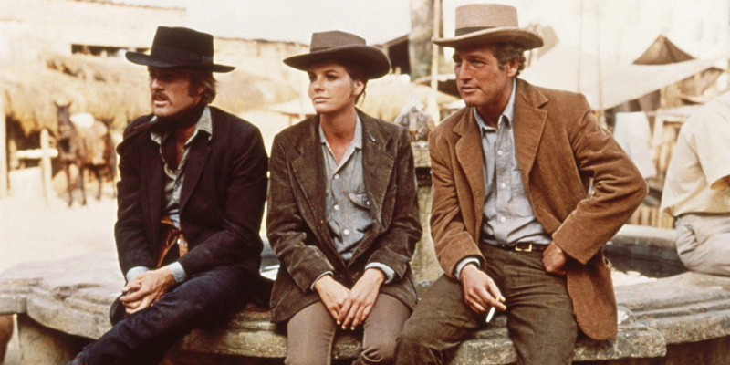 Robert Redford, Katharine Ross and Paul Newman in Butch Cassidy and the Sundance Kid