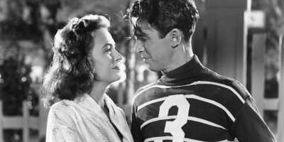 Donna Reed and James Stewart in It's A Wonderful Life (1946)