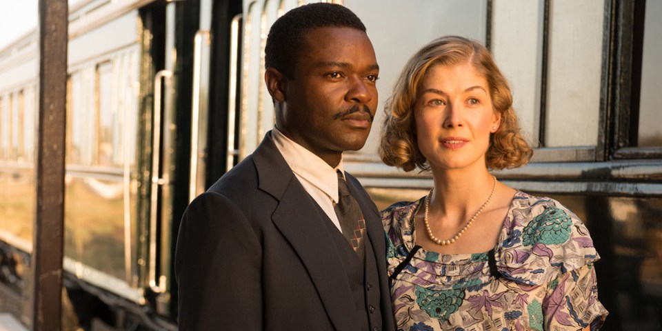 David Oyewelo and Rosamund Pike in A United Kingdom