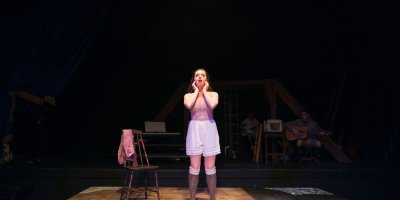 Katrina Pavao in The Wilbury Group's production of Spring Awakening (photo: Maggie Hall)