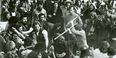 Gimme Shelter (1970) Directed by Albert Maysles & David Maysles (the Maysles brothers), Charlotte Zwerin Shown: the Hell's Angels (on hand to work security) attack the crowd at a rock show at the Altamont Speedway, 1969