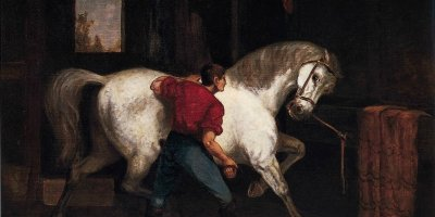 'Governor_Sprague's_White_Horse'_by_Edward_Mitchell_Bannister,_1869
