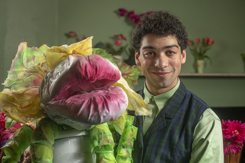 Dean Hernandez as Seymour in Little Shop of Horrors at Contemporary Theater Company in Wakefield, RI