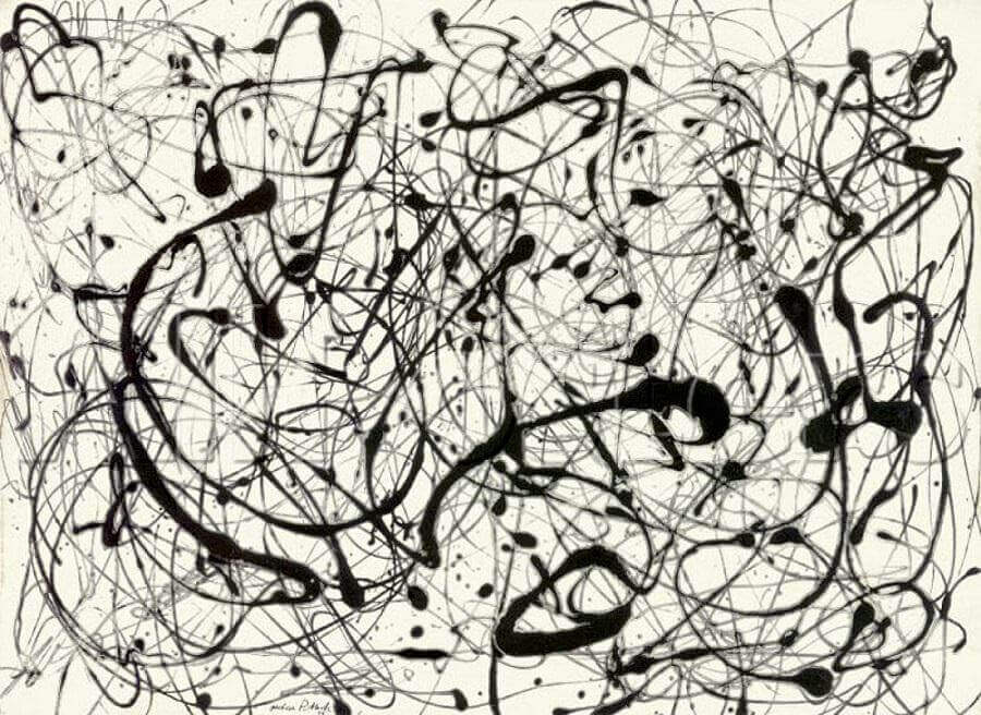 Jackson Pollock Number 14 gray