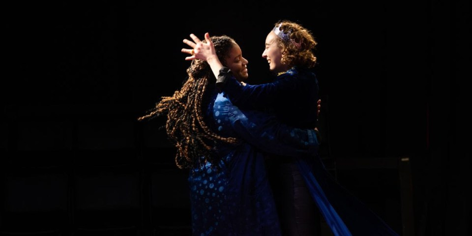 Gabrielle McCauley and Catia in Burbage Theatre Company's production of Edward II