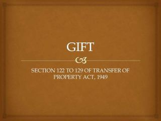 SUSPENSION AND REVOCATION OF GIFTS