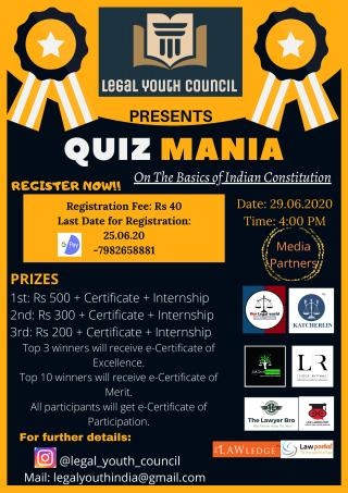 Ribbon Employee of the Month Poster 1 page 001 LEGAL YOUTH COUNCIL'S QUIZ COMPETITION ON THE BASICS OF INDIAN CONSTITUTION