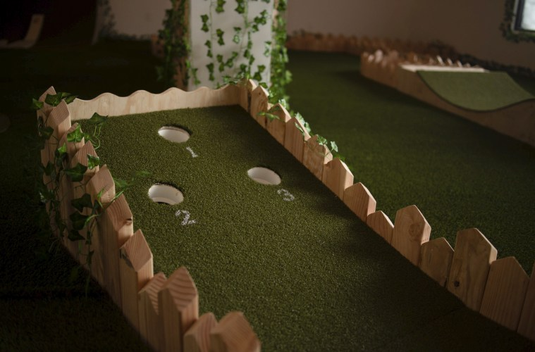 The course is inspired by British golf clubs from Kara Godfrey's childhood; Credit: Hole 19