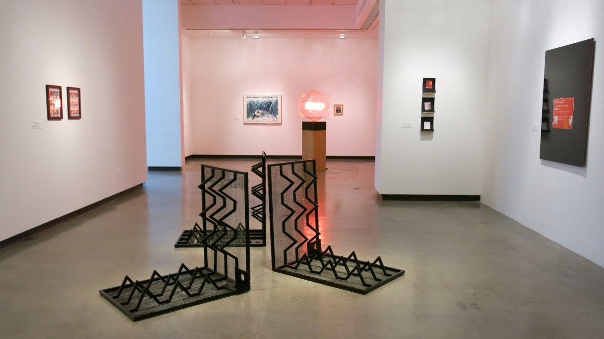 """""""Call and Response"""" installation view; Credit: CSULB University Art Museum"""