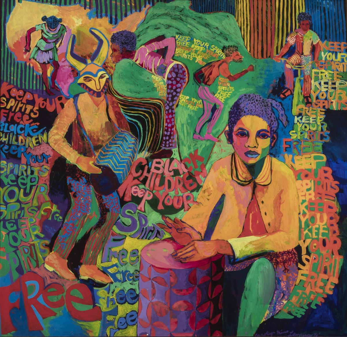 Carolyn Lawrence, Black Children Keep Your Spirits Free, 1972; Credit: Courtesy of the Broad