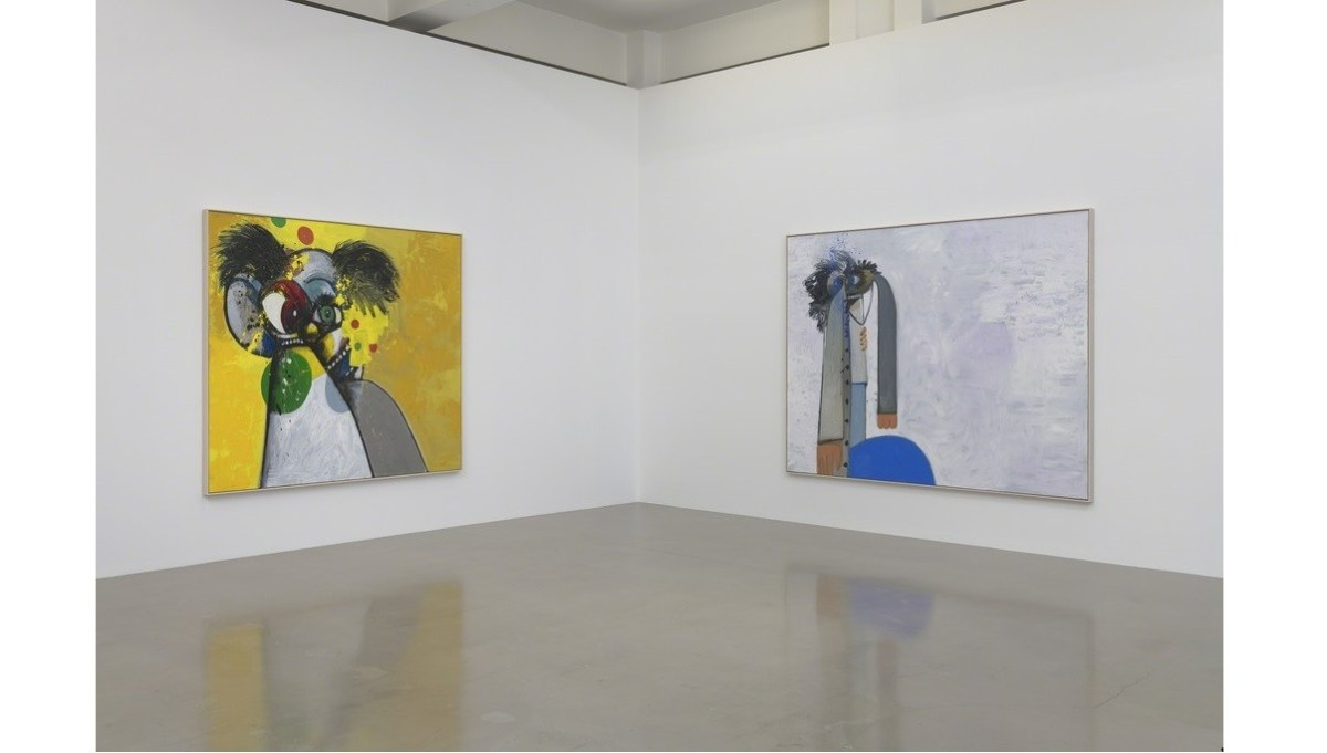 """George Condo, """"What's the Point?"""" installation view; Credit: Courtesy Sprüth Magers"""