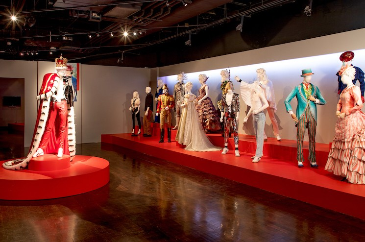 """The main display at FIDM's """"Art of Motion Picture Costume Design"""" exhibit; Credit: Alex J. Berliner / ©ABImages"""