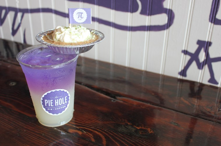 Einstein Blue Lemonade and key lime pie; Credit: The Pie Hole