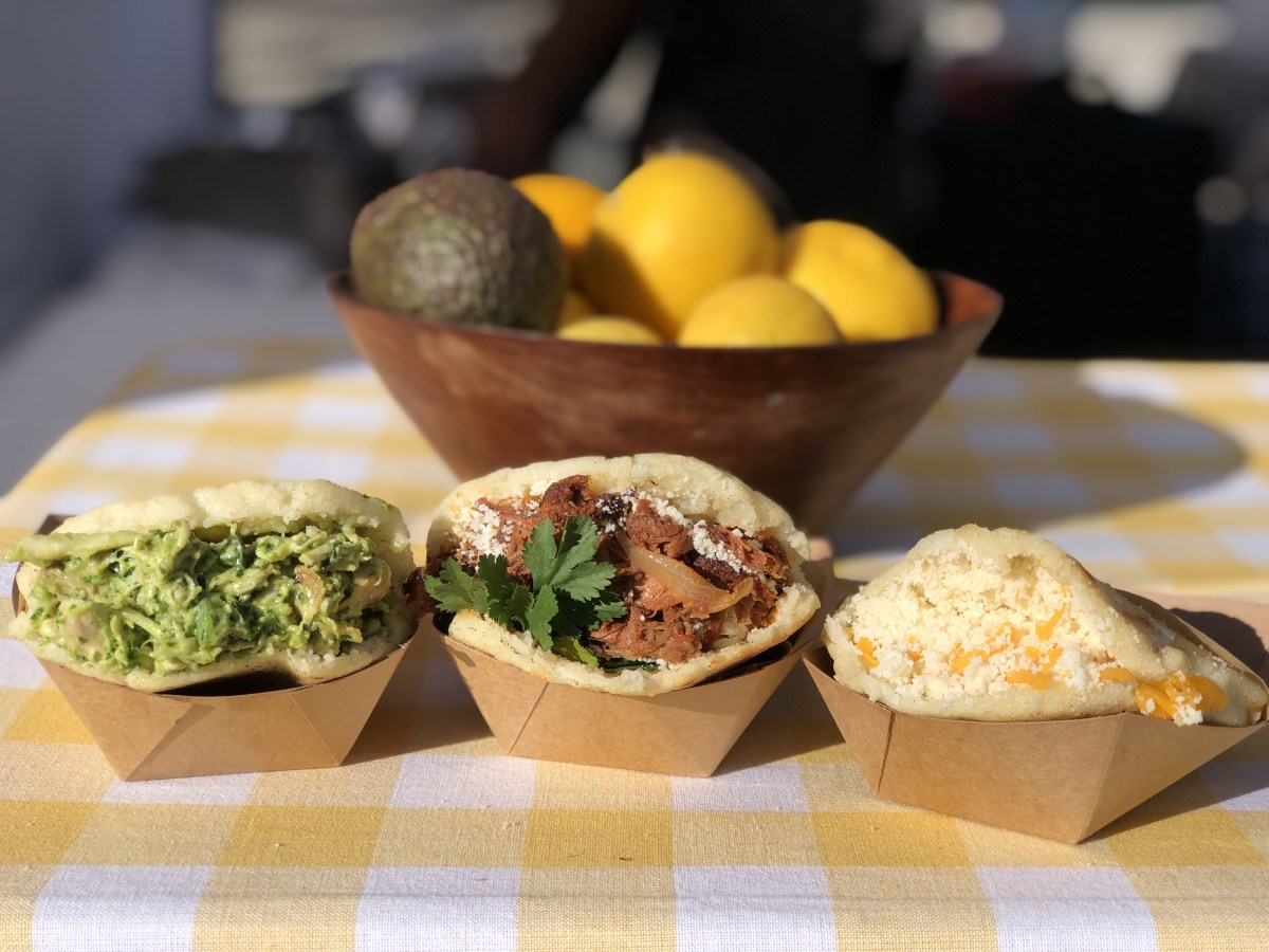 The Westsider, the Brisket and the Cheester; Credit: The Arepa Stand