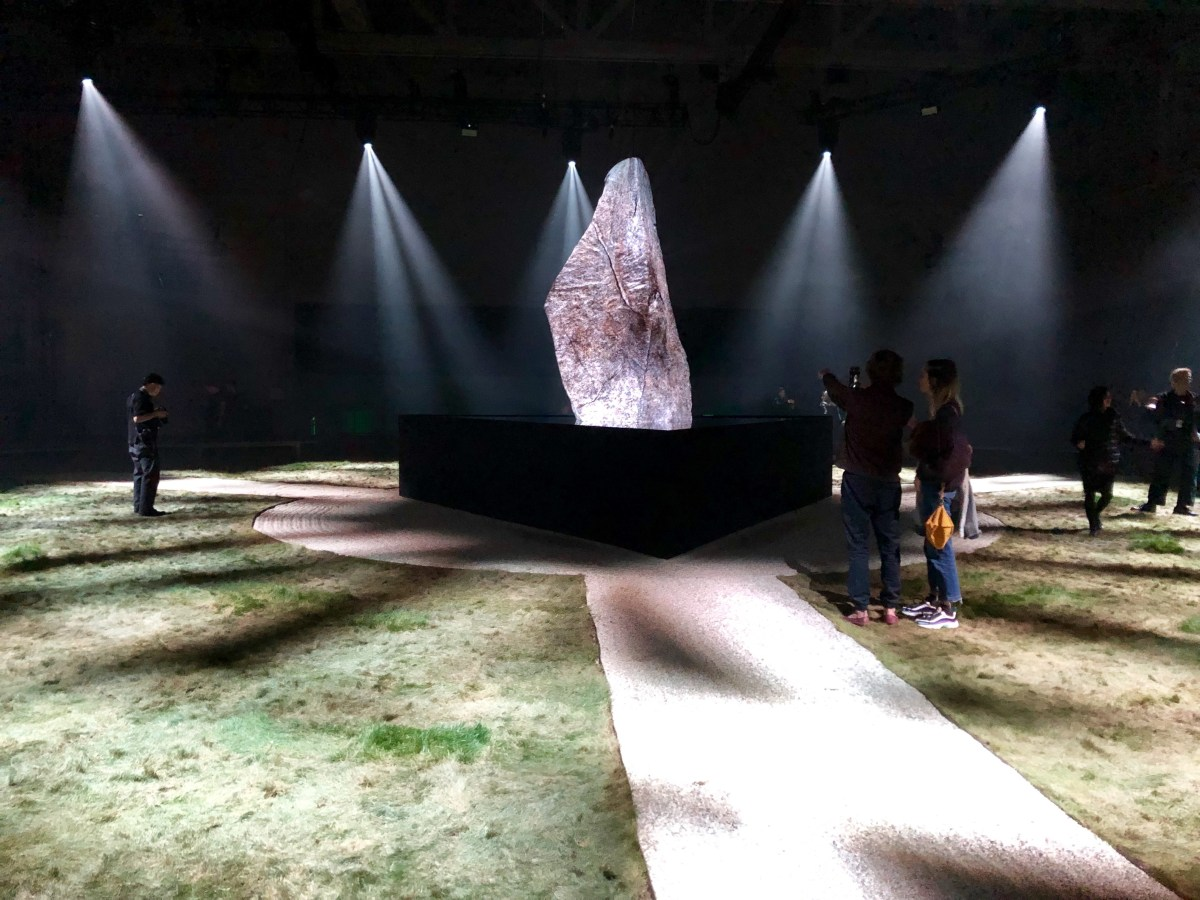 """""""An Encounter with Lux Prima"""" stage set at the Marciano Art Foundation; Credit: Shana Nys Dambrot"""
