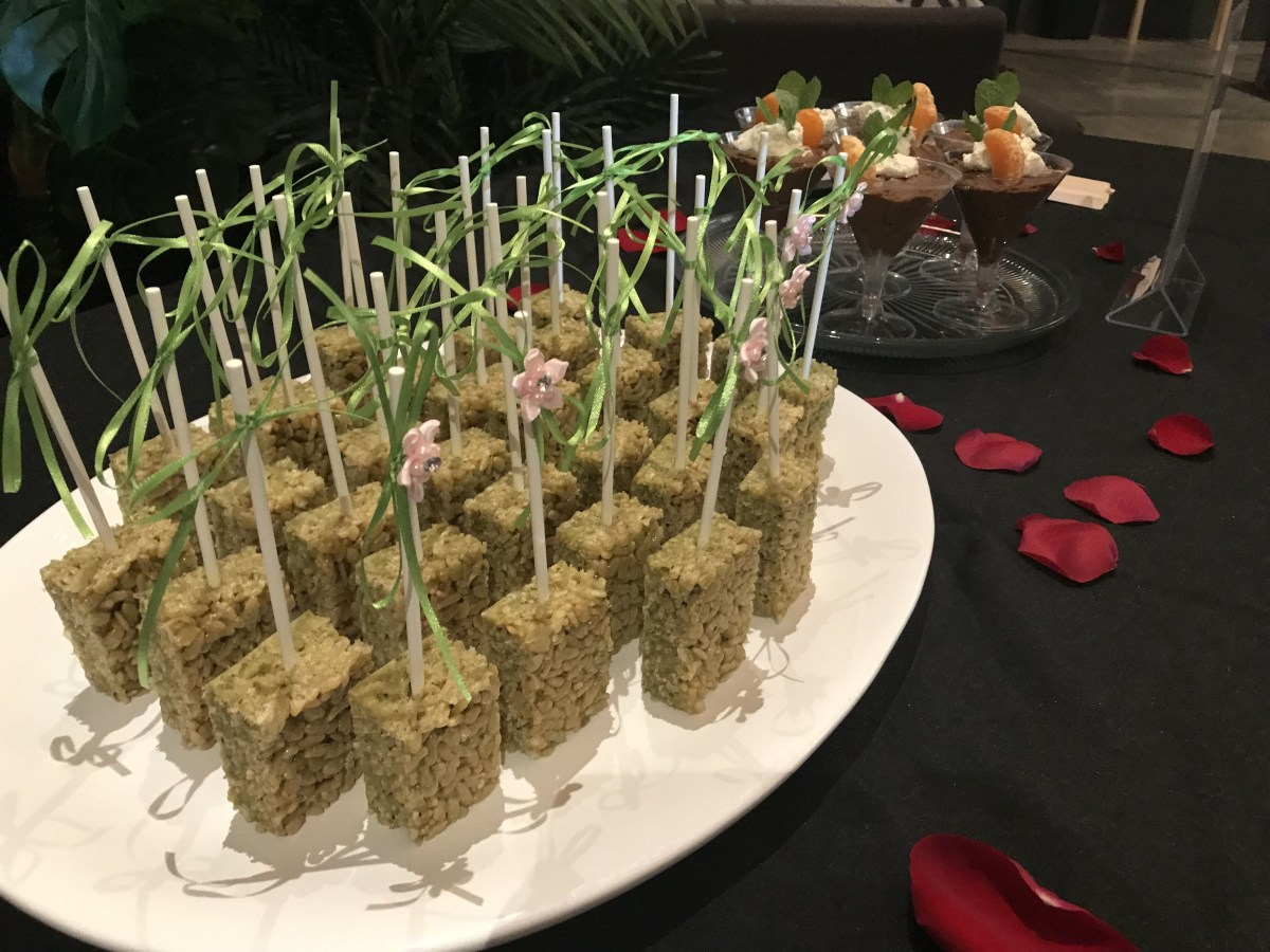 CBD-infused matcha marshmallow treats from Grass Fed Bakery; Credit: Michele Stueven