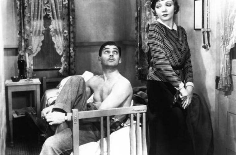 Stars Clark Gable and Claudette Colbert were among the five Oscar winners for It Happened One NIght.; Credit: Sony Pictures