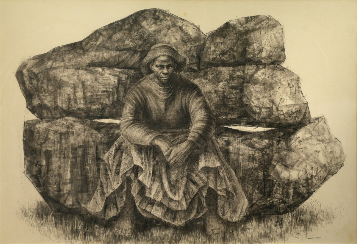 """Charles White, """"General Moses (Harriet Tubman),"""" 1965. Private collection, © The Charles White Archives; Credit: Courtesy of Swann Auction Galleries"""