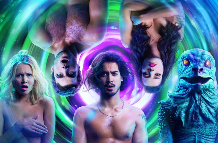 The cast of Gregg Araki's Now Apocalypse bares all.; Credit: Starz Entertainment LLC