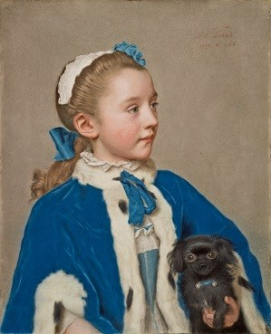 Portrait of Maria Frederike van Reede-Athlone at 7 Years of Age, Jean-Étienne Liotard, 1755–56, pastel on vellum; Credit: The J. Paul Getty Museum