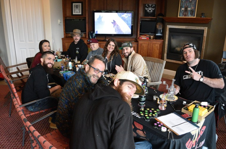 The judges in the solventless hash competition; Credit: Jimi Devine