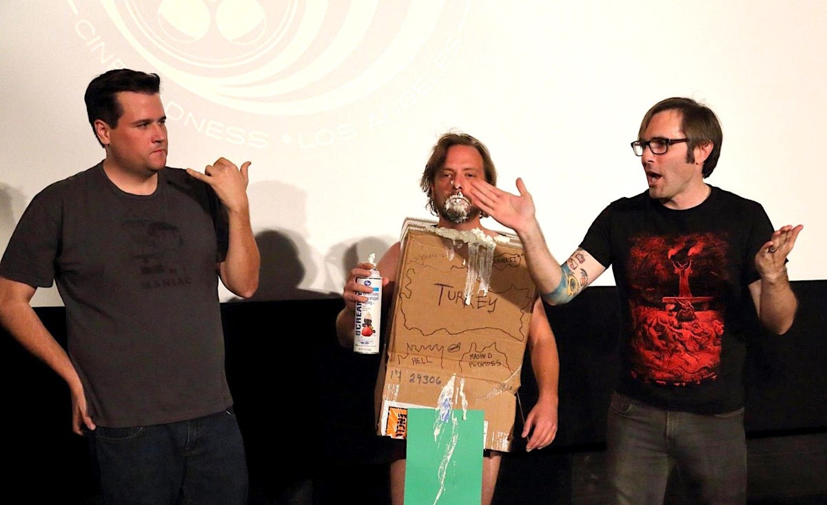 James Branscome, right, and his crew offer lively cinematic discussion.; Credit: Robert Enger