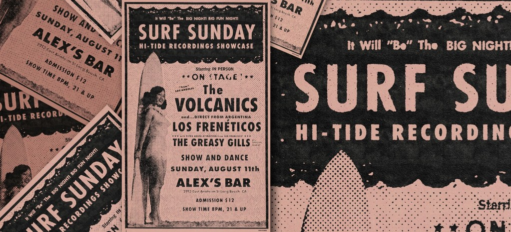 The Surfrajettes, The Volcanics, Los Frenéticos, The Greasy Gills